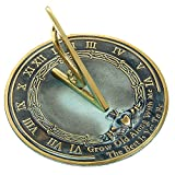 Brass Sundial ''Grow Old With Me''