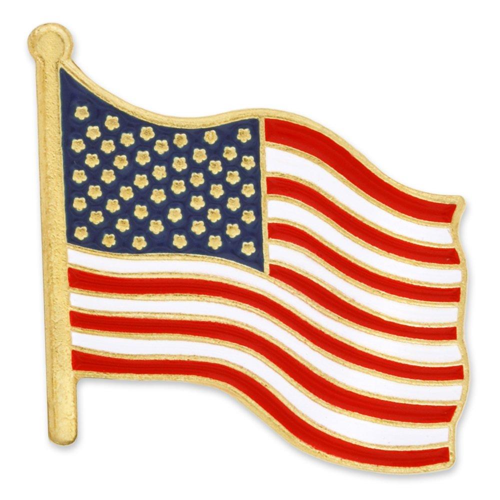 PinMart's Buy One Get One FREE American Flag Patriotic Enamel Lapel Pin