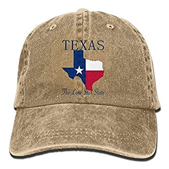 DAIAII Hombre Mujer Gorras de béisbol, Texas The Lone Star State ...