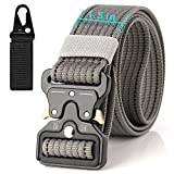Tactical Belt 15'', Adjustable Military Style Outdoors Sport Leisure Harnesses Men's Heavy Duty Nylon Belt with Quick-Release Metal Buckle