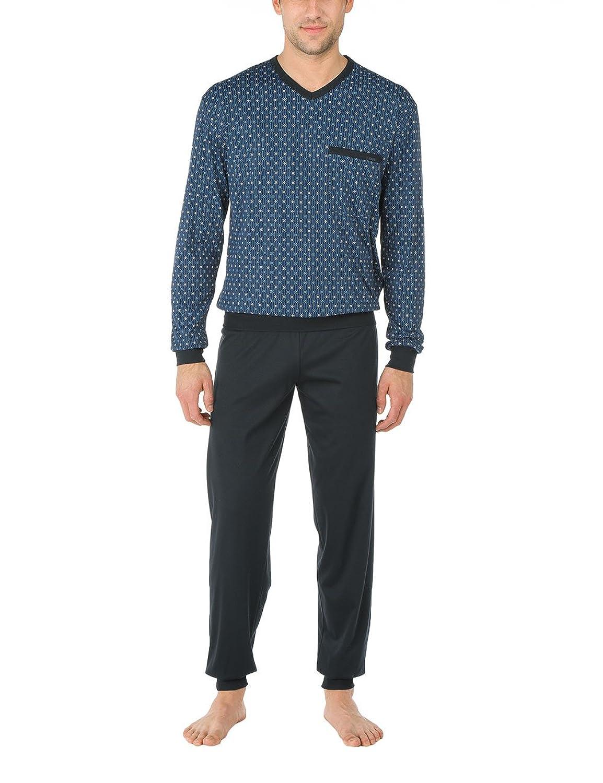 Calida Herren Zweiteiliger Schlafanzug Pyjama Bündchen Mayfair