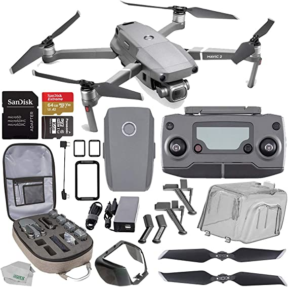 """DJI Mavic 2 Pro Drone Quadcopter with Hasselblad Camera 1/"""" CMOS Sensor with Fly More Kit 128GB Insta360 ONE X Bundle"""