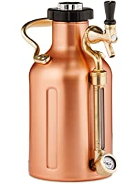 GrowlerWerks uKeg Pressurized Growler, 64 oz, Copper