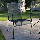 Woodard Stanton Wrought Iron Dining Chair – Set of 4 – Textured Black Review