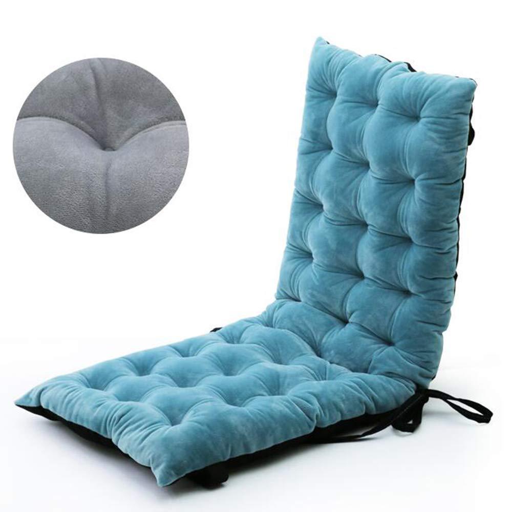 ZGYQGOO Indoor Outdoor Lounge Stuhl Kissen, Terrasse Liegestuhl Kissen, verdickt einfarbig rutschfest für Garten Outdoor Indoor Sofa Tatami Auto Bank (nur Kissen) -Blau 100x40x8cm (39x16x3inch)