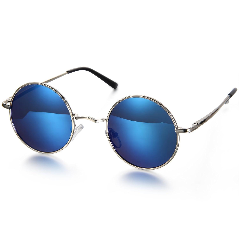 Aroncent Unisex Sonnenbrille, Strahlenschutz Polarisierte Sonnenbrille, Vollrand Sonnenbrille, Schwarz