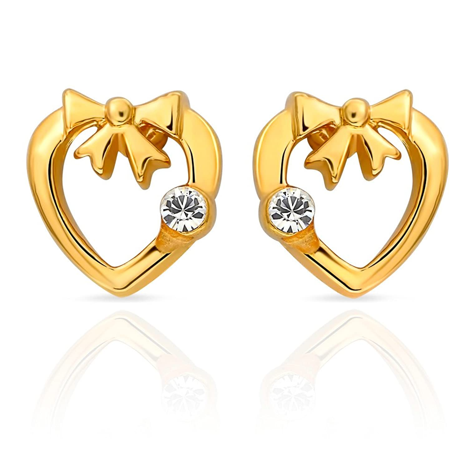 Buy Mahi Eita Collection White Gold Plated Crystal Stones Stud ...