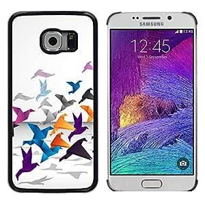 // PHONE CASE GIFT // Duro Estuche protector PC Cáscara Plástico Carcasa Funda Hard Protective Case for Samsung Galaxy S6 EDGE / Grulla de origami /