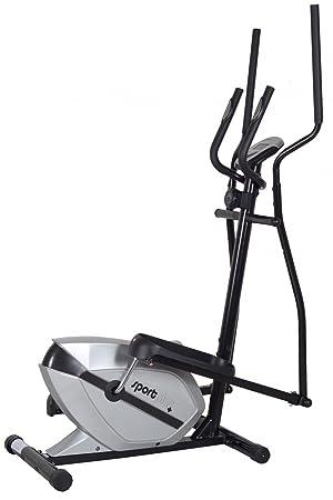 SportPlus 10106504 SP-ET-2408_S - Bicicleta elíptica, color plateado y negro