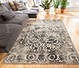 Yorkshire Grey Sarouk Vintage Modern Traditional Casual 8x11 ( 7'10'' x 10'6'' ) Area Rug Thick Soft Plush Shed Free