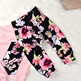 2pcs Baby Girl Floral Print Pullover Hoodies with