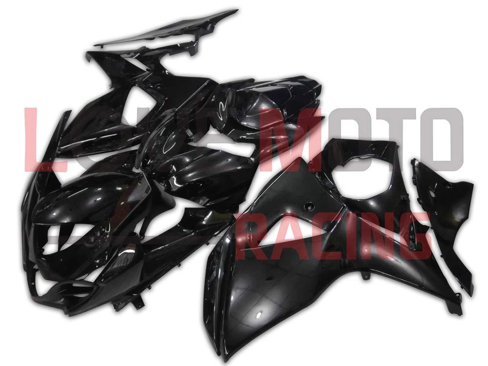 LoveMoto ブルー/イエローフェアリング スズキ suzuki GSXR1000 2009 2010 2011 2012 2013 2014 2015 2016 09-16 K9 ABS射出成型プラスチックオートバイフェアリングセットのキット ブラック   B07KG4DWZJ