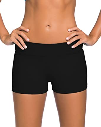 17fa7f96da646 Aleumdr Women's Wide Waistband Swimsuit Bottom Shorts Swimming Panty ...