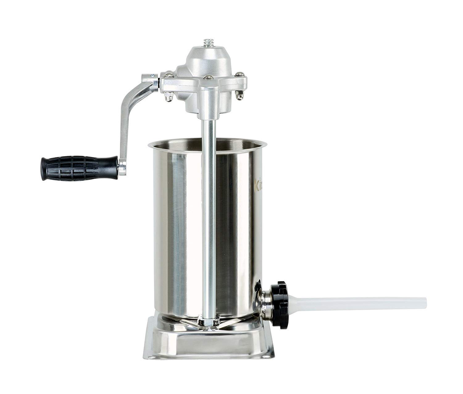Kitchener Heavy Duty Stainless Steel Vertical Sausage Stuffer//Filler//Maker with 3 Stuffing Tubes