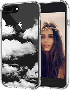 MOSNOVO iPhone 8 Plus Case, iPhone 7 Plus Clear Case, Cloud Pattern Printed Clear Design Transparent Plastic Back Case with TPU Bumper Protective Case Cover for iPhone 7 Plus/iPhone 8 Plus