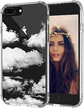 MOSNOVO Coque iPhone 8 Plus, Coque iPhone 7 Plus, Nuage Clair Design Motif Transparente Arrière avec TPU Bumper Gel Coque de Protection pour iPhone 7 ...