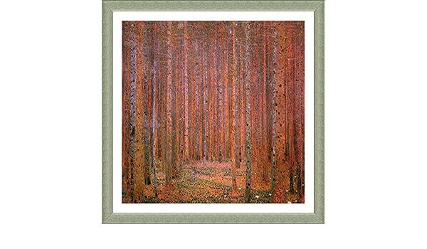 TANNENWALD FIR WOOD GUSTAV KLIMT CANVAS PICTURE PRINT WALL ART HOME DECOR