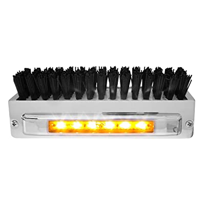 Grand General 98980 Chrome Aluminum Boot Caddie with Black Brush and 6 Amber LED Light Bar: Automotive