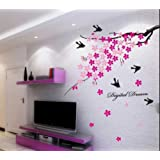 Decals Design 'Flower Branch with Birds' Wall Sticker (PVC Vinyl, 50 cm x 70 cm)