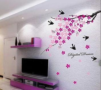 Buy Decals Design Flower Branch with Birds Wall Sticker PVC