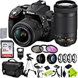Nikon D5300 DSLR Camera (Body Only, Black) with Nikon 18-55mm f/3.5-5.6G Lens and Nikon 70-300mm Lens 2 Lenses Combo