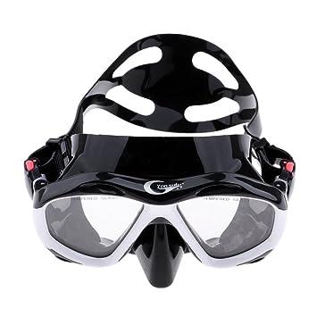 b4508844e7d4 Baoblaze Women and Mens Diving Mask with Nose Cover Swim Goggles Scuba Free  Diving Glasses -