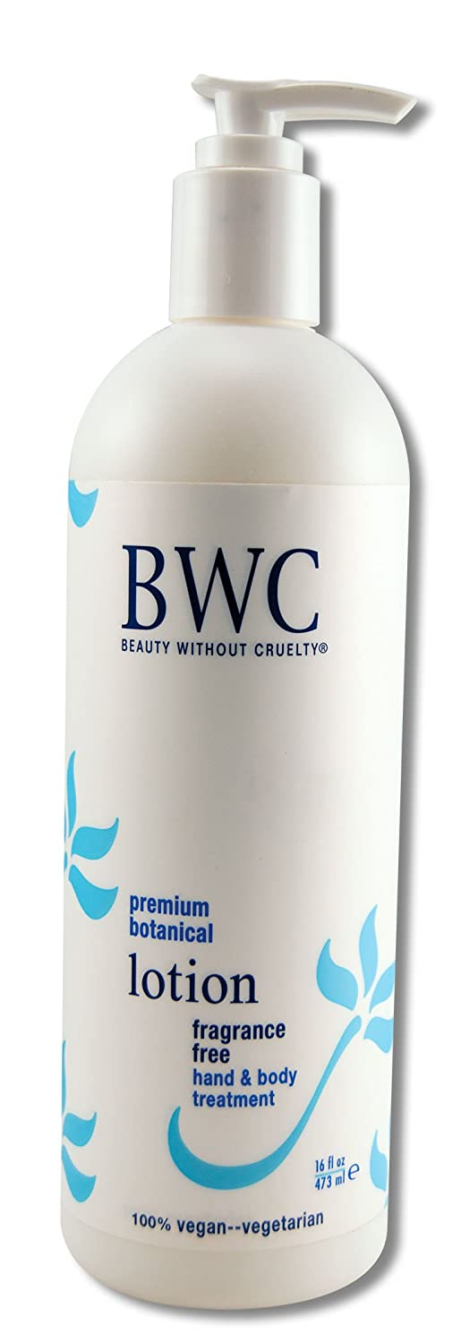 Beauty Without Cruelty Fragrance Free Hand & Body Lotion, 100% Vegetarian, 16 fl ozs.