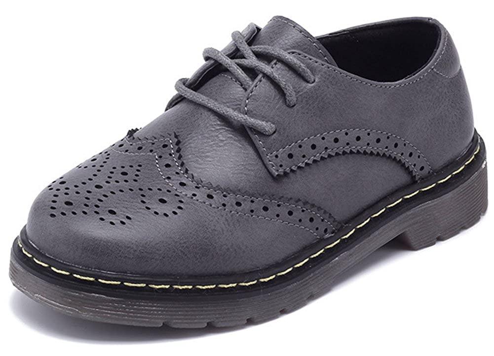 SFNLD InStar Kids Classic Round Toe Low Top Lace Up Oxford Shoes
