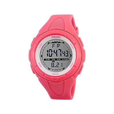 Reloj deportivo iWatch para mujer, digital, resistente al agua hasta 50 m, correa