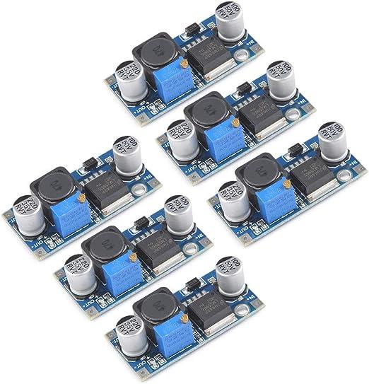 Pokiene 6 Stück Lm2596 Dc Dc Buck Converter 3 0 40v Bis 1 5 35v Stromversorgung Step Down Modul Küche Haushalt