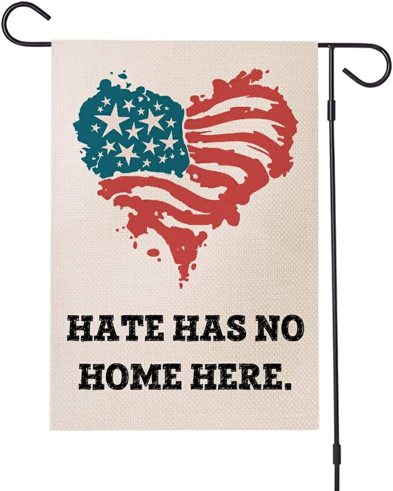 Doreen's Boutique Hate Has No Home Here Yard Flag - Human Rights Justice Sign, BLM Lawn Sign, Feminism Sign, Protest Sign – 1 Pc