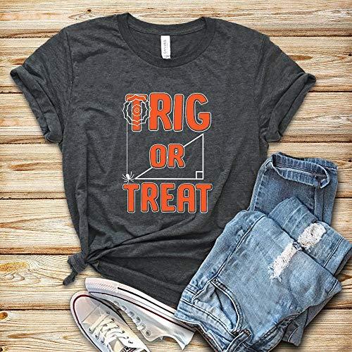 Math Teacher Trig or Treat Shirt Tank Top Hoodie Math Teacher Halloween Shirt Math Teacher Gift Gift for Math Teacher Math