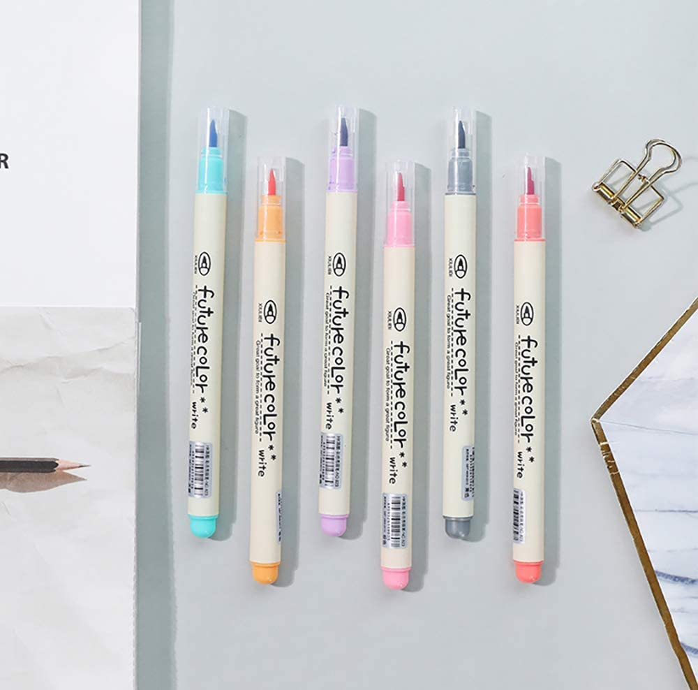 Art Rocks Brush Colorful Calligraphy Pens Scrapbooking Doraking Colored Soft Head Brush Water-based Calligraphy Pens Marker Pens for Painting Brush Marker Pens Highlight Gift Eggs