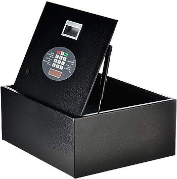 Caja Fuerte Empotrable Caja fuerte de cajón de escritorio pequeño con código y llave - Caja de seguridad portátil a prueba de agua para documentos Moneda de dinero: Amazon.es: Bricolaje y herramientas