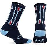 Athletic Half Cushioned Crew Socks | Rowing Crew Oars Design | Multicolor