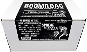Boomr Bag 5lb | Manure Based Bulk Substrate Blend | Grow Edible Mushrooms at Home | Easy to Use in a Monotub | Box with Sterile Mushroom Substrate