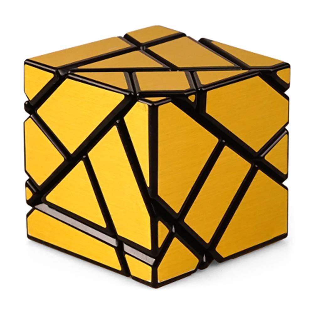 JIAAE 3X3 Allotype Rubik's Cube High Difficulty Intelligence Rubik Children Puzzle Toy,Gold