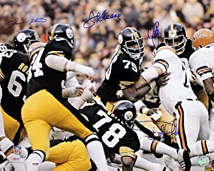Pittsburgh Steelers Steel Curtain Signed Autographed 16x20 Photo PSA DNA COA