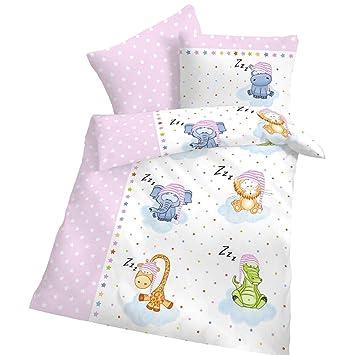 Amazonde Biber Baby Bettwäsche Sterne Schlafende Zoo Tiere Weiß