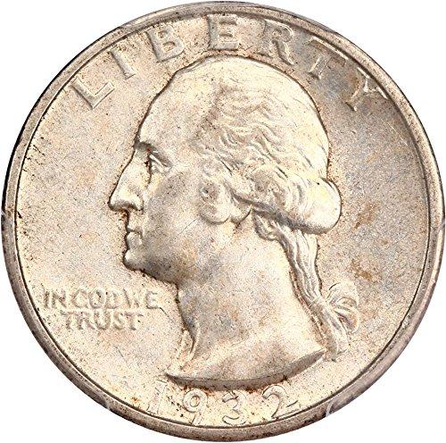 1932 S Washington Quarters (1932-98) Quarter AU55 PCGS