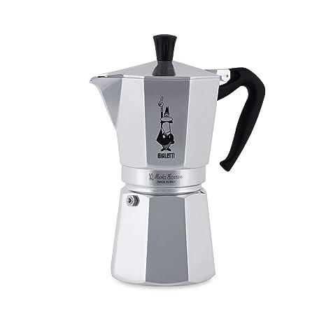 Bialetti Moka Express - Cafetera Espresso para 12 Tazas, Color Plata