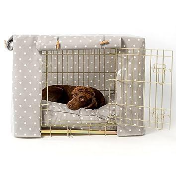 Cubierta para jaula/jaula de lunares de color gris oculto para mascotas en el hogar