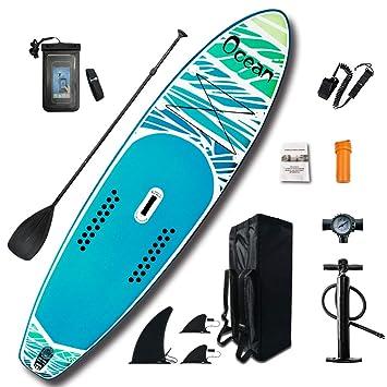 FeatherLite - Juego de Tabla de Surf Hinchable de 10 pies y ...