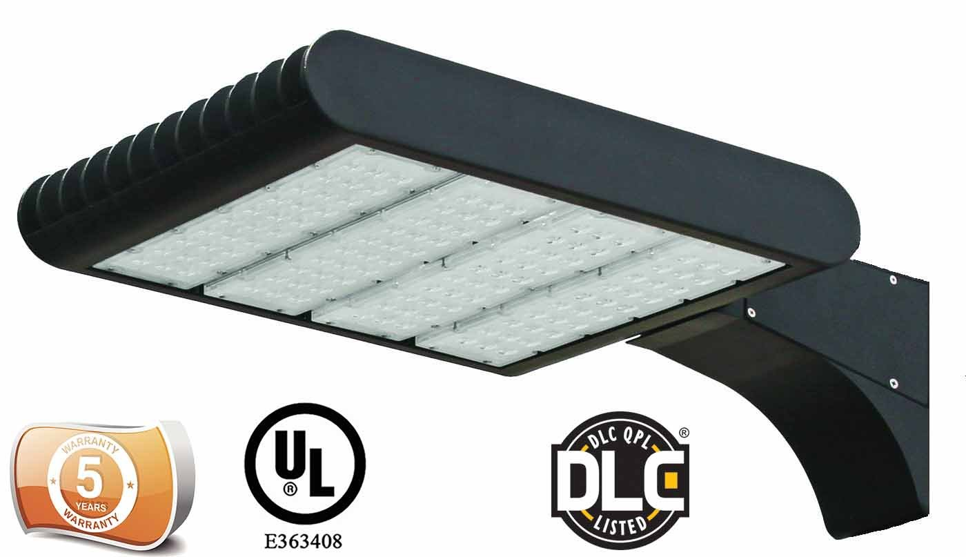 DLC Listed LEDrock Electra Series 300 Watt LED Area Light, 4000K Neutral White, 120V-277V, Comparable to 1000W MH, 30,857 Lumens, Outdoor Pole Mount Area Light, UL, Warranty Based in Denver, CO, USA by LEDrock