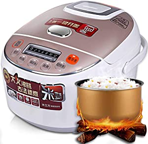 Li-HIM Smart 3L Rice Cooker, Micro-Pressure Electric Rice Cooker with Automatic Steam/Pressure Emission/Programmable Pressure Cooker/LED Display