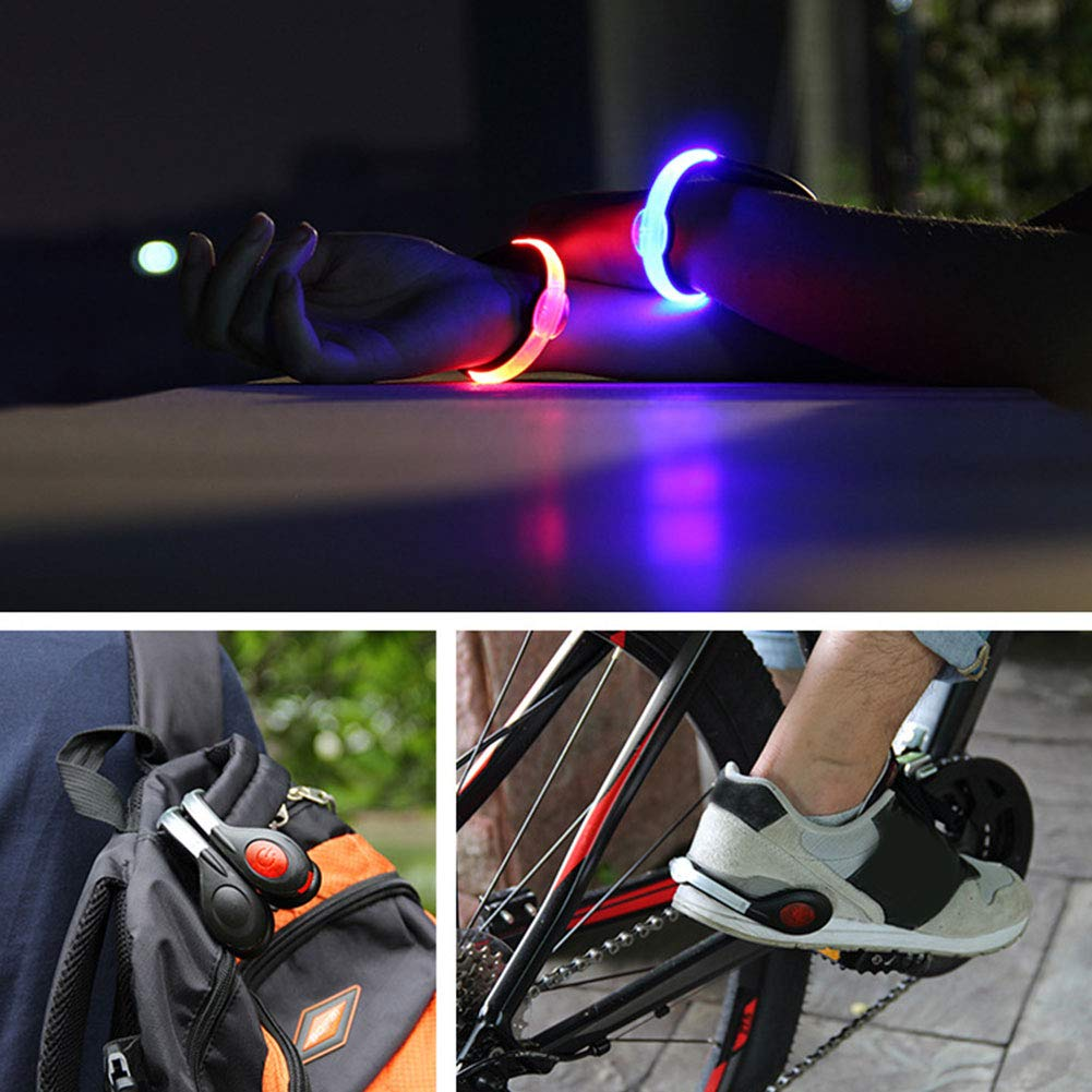 LAOOWANG Shoes Clip Lights Rechargeable LED Shoes Clip Luminous Outdoor Sport Flashing Shoe Safety Warning Lights Clip for Night Joggers Walkers Biker One Pair