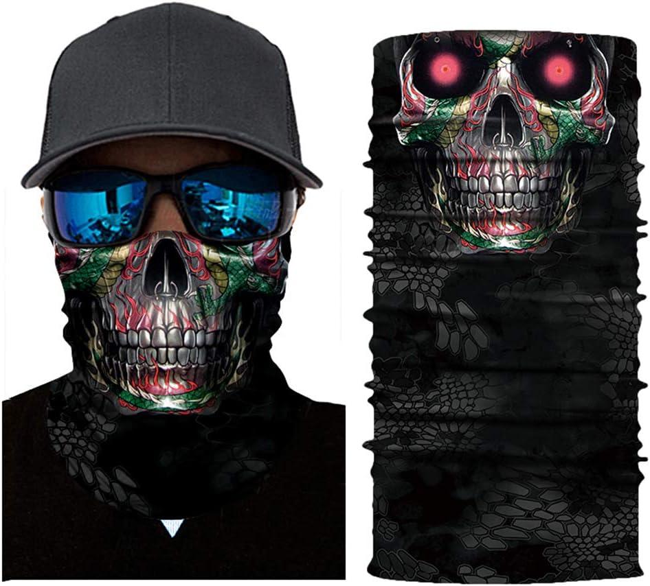 Leslaur Cool Robot Squelette Halloween Masque /Écharpe Joker Bandeau Cagoules pour Cyclisme De P/êche Ski Moto AC007