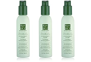 Potent & Pure Balancing Antioxidant Toner - 5.3 oz. by Kiss My Face (pack of 6) 4 Pack Noxzema Ultimate Clear Anti-Blemish Daily Scrub 5 Oz Each