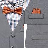 Vittorino Boys 4 Piece Suit Set With Vest Shirt Tie