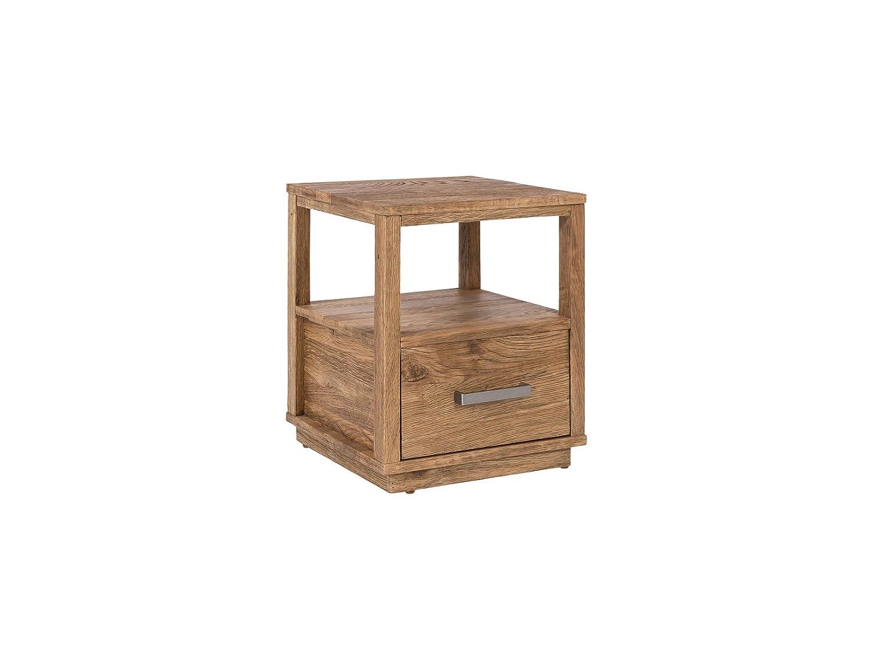 Woodkings Nachttisch Woodville Eiche Rustikal Braun Schlafzimmer